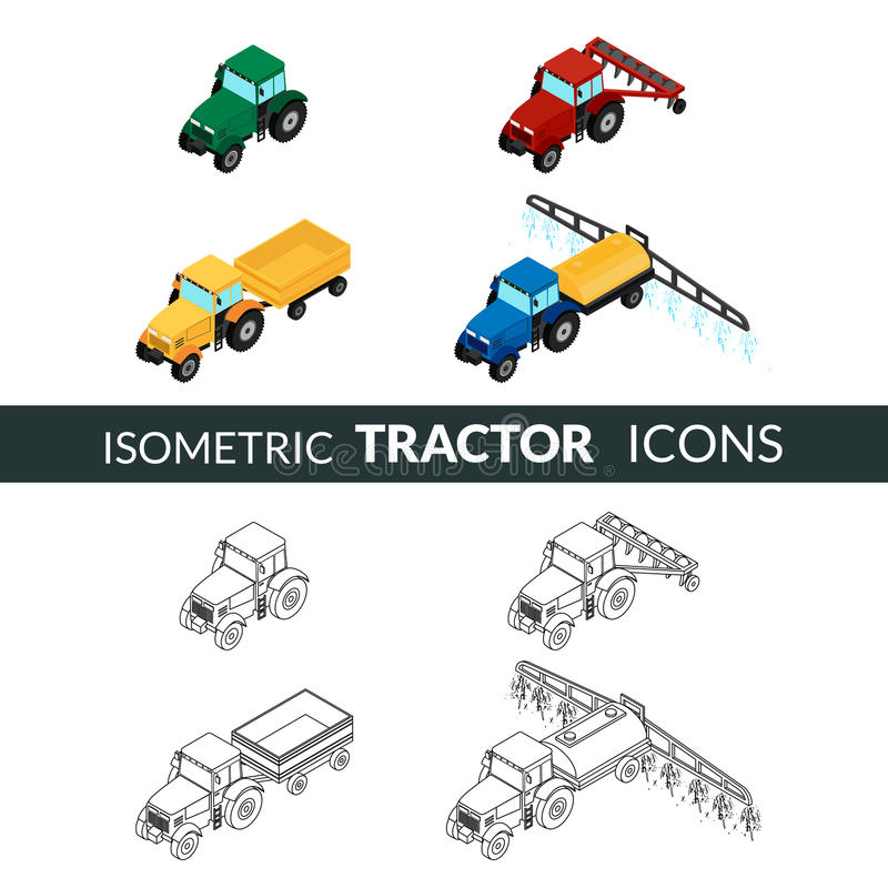 Σύνολο γεωργικών εικονιδίων απεικόνιση αποθεμάτων