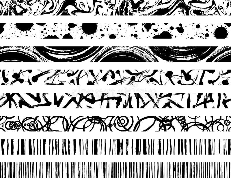 Σύνολο γραμμών κτυπήματος βουρτσών απεικόνιση αποθεμάτων
