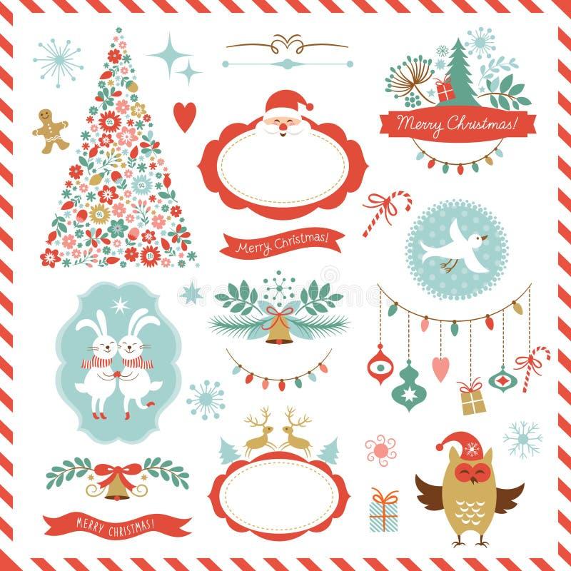 Σύνολο γραφικών στοιχείων Χριστουγέννων