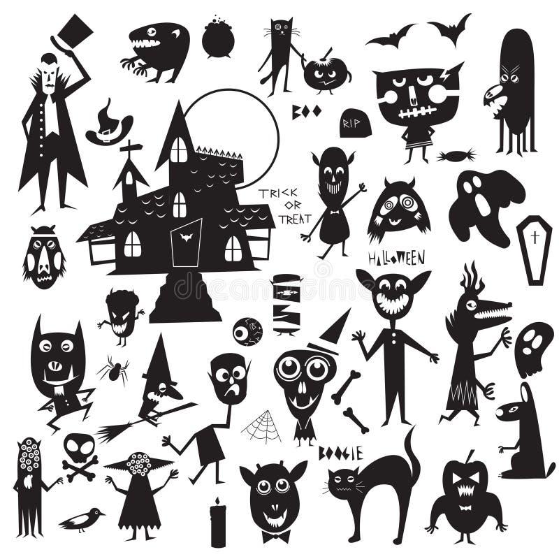 Σύνολο εικονιδίων αποκριών απεικόνιση αποθεμάτων