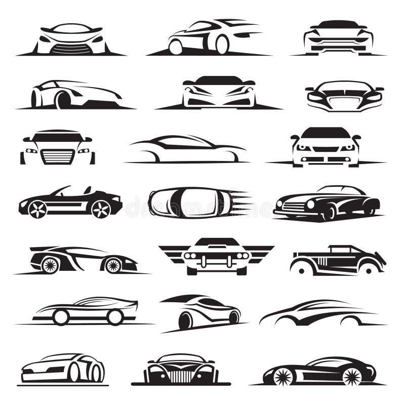 Σύνολο εικονιδίων αυτοκινήτων ελεύθερη απεικόνιση δικαιώματος