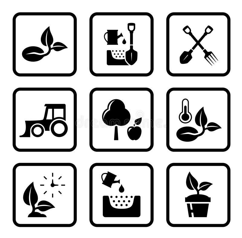 Σύνολο εικονιδίων γεωργίας ελεύθερη απεικόνιση δικαιώματος