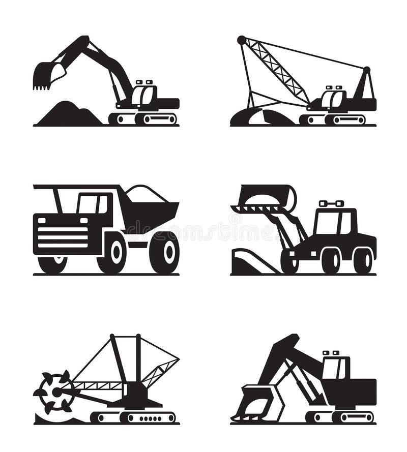 Σύνολο εικονιδίων γεωργικών μηχανημάτων ελεύθερη απεικόνιση δικαιώματος
