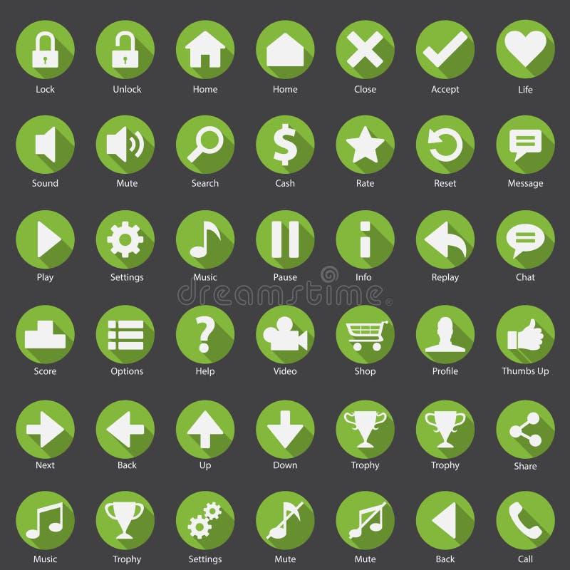 Σύνολο εικονιδίων Διαδικτύου τηλεφωνικού Ιστού ελεύθερη απεικόνιση δικαιώματος