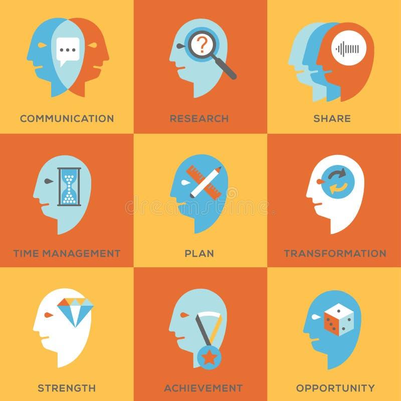 Σύνολο εικονιδίων δεξιοτήτων εργασίας διανυσματική απεικόνιση