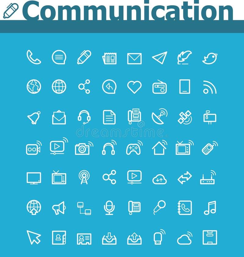 Σύνολο εικονιδίων επικοινωνίας διανυσματική απεικόνιση