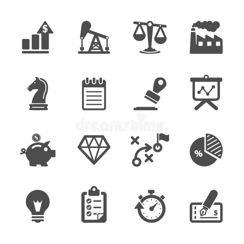 Σύνολο εικονιδίων επιχειρήσεων και χρηματοδότησης, διανυσματικό eps10 ελεύθερη απεικόνιση δικαιώματος