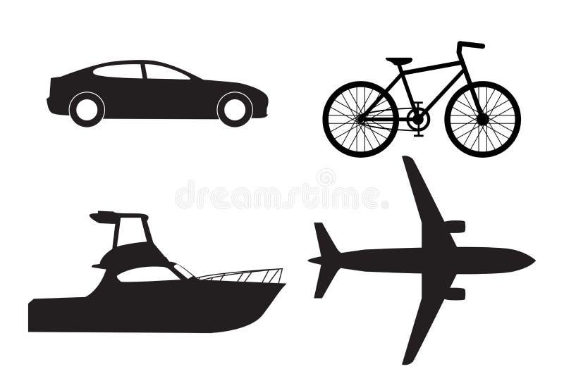 Σύνολο εικονιδίων μεταφορών απεικόνιση αποθεμάτων
