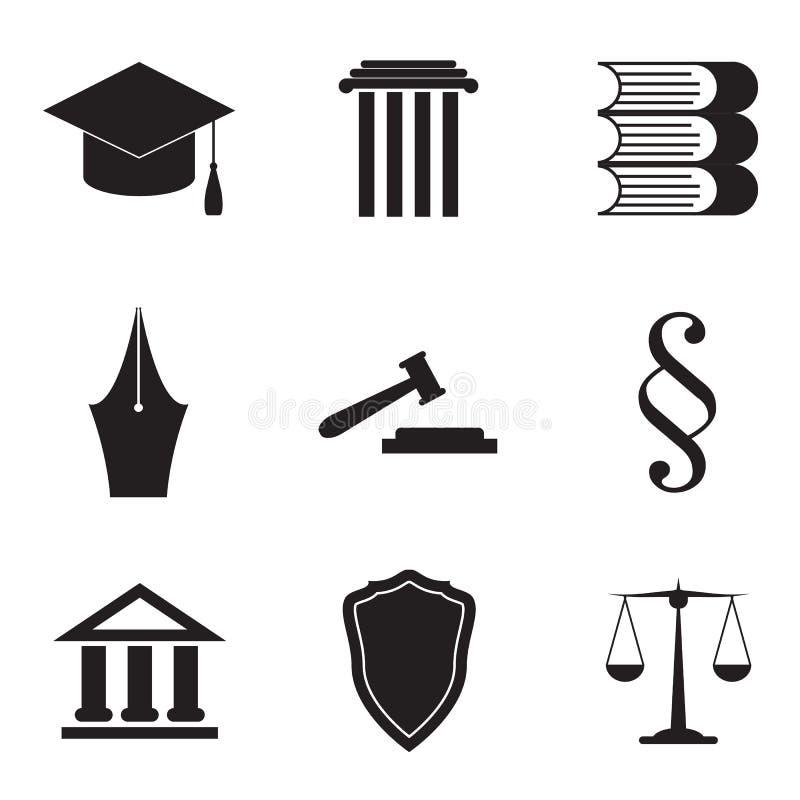 Σύνολο εικονιδίων νόμου ελεύθερη απεικόνιση δικαιώματος
