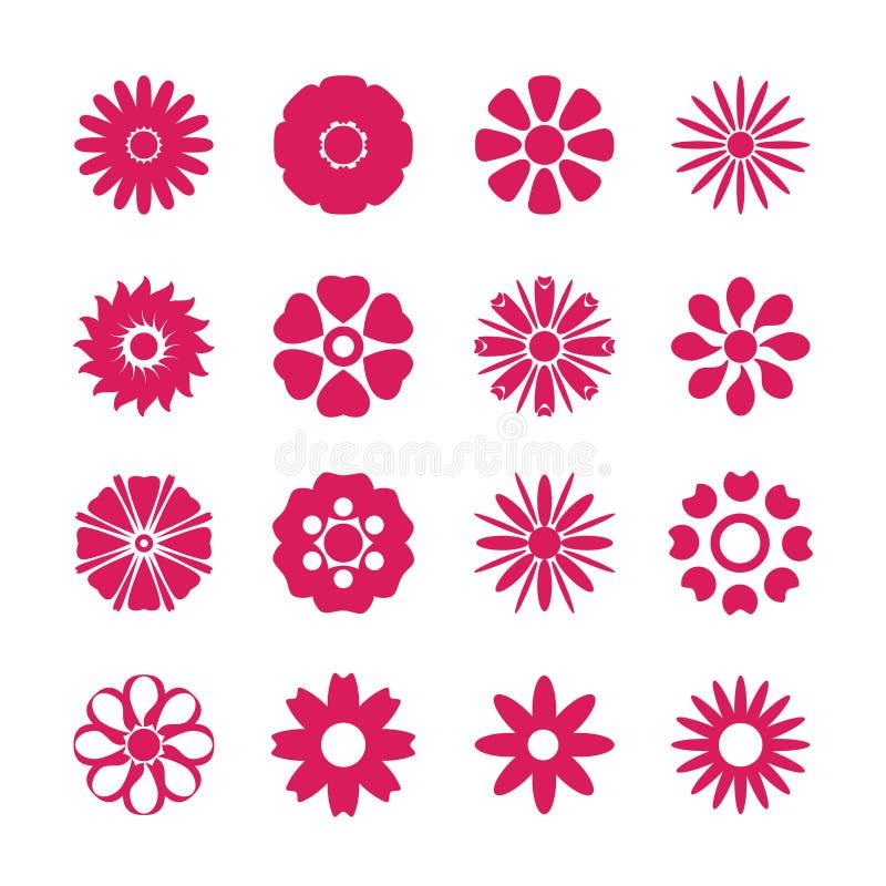 Σύνολο εικονιδίων λουλουδιών, διανυσματικό eps10 απεικόνιση αποθεμάτων