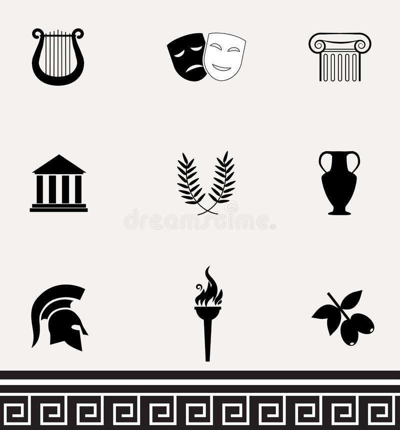 Σύνολο εικονιδίων της Ελλάδας απεικόνιση αποθεμάτων