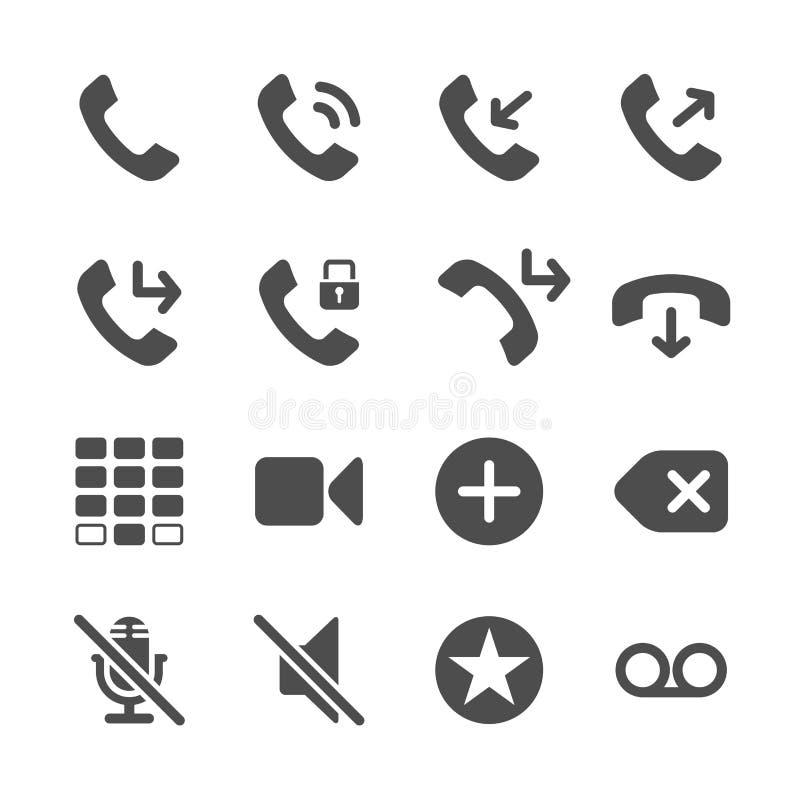 Σύνολο εικονιδίων τηλεφωνικής εφαρμογής, διανυσματικό eps10 διανυσματική απεικόνιση