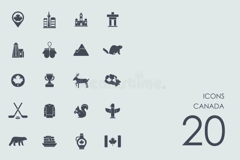 Σύνολο εικονιδίων του Καναδά διανυσματική απεικόνιση