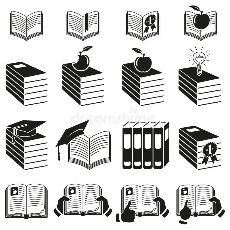 Σύνολο εικονιδίων των βιβλίων. διανυσματική απεικόνιση