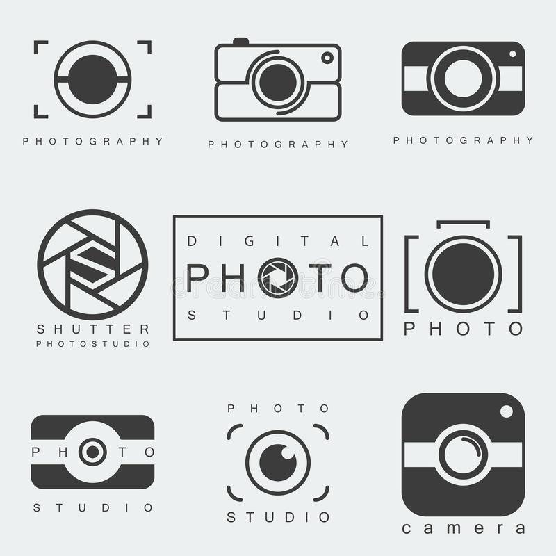 Σύνολο εικονιδίων φωτογραφίας ελεύθερη απεικόνιση δικαιώματος