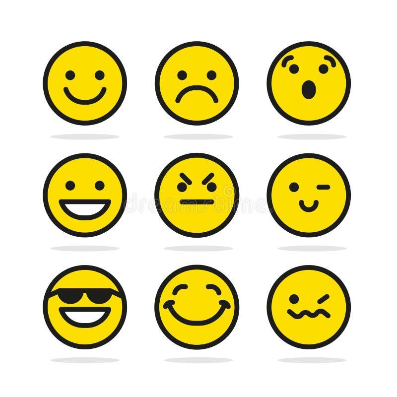 Σύνολο εικονιδίων χαμόγελου διανυσματική απεικόνιση