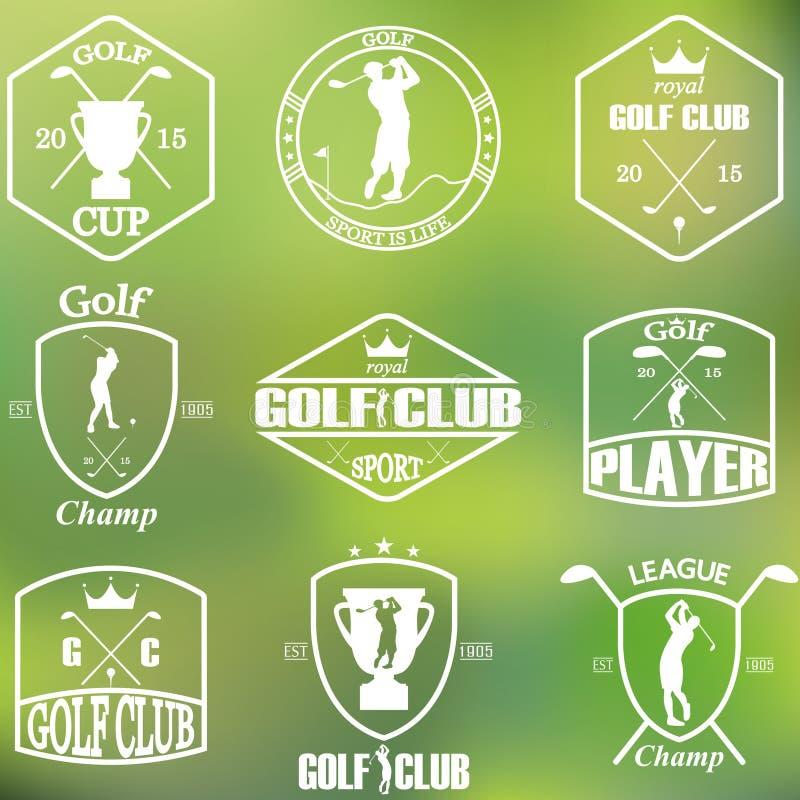 Σύνολο εκλεκτής ποιότητας ετικετών γκολφ διανυσματική απεικόνιση