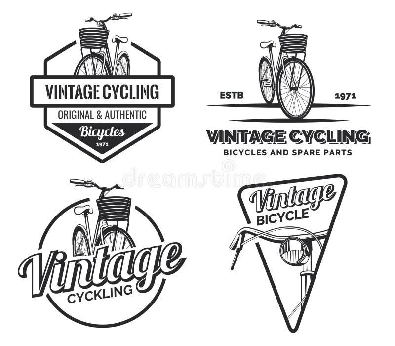 Σύνολο εκλεκτής ποιότητας ετικετών, εμβλημάτων, διακριτικών ή λογότυπων οδικών ποδηλάτων στοκ φωτογραφία με δικαίωμα ελεύθερης χρήσης