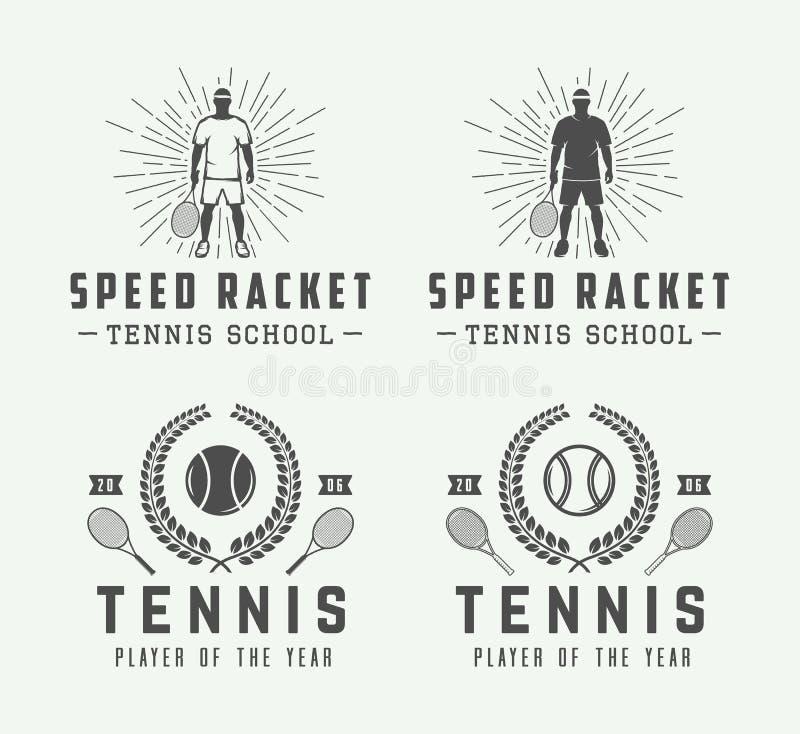 Σύνολο εκλεκτής ποιότητας λογότυπων αντισφαίρισης, εμβλήματα, διακριτικά, ετικέτες διανυσματική απεικόνιση