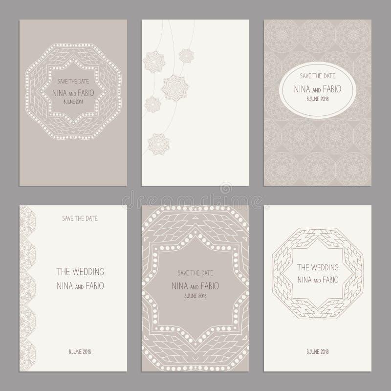 Σύνολο εκλεκτής ποιότητας προτύπων καρτών editable διανυσματική απεικόνιση
