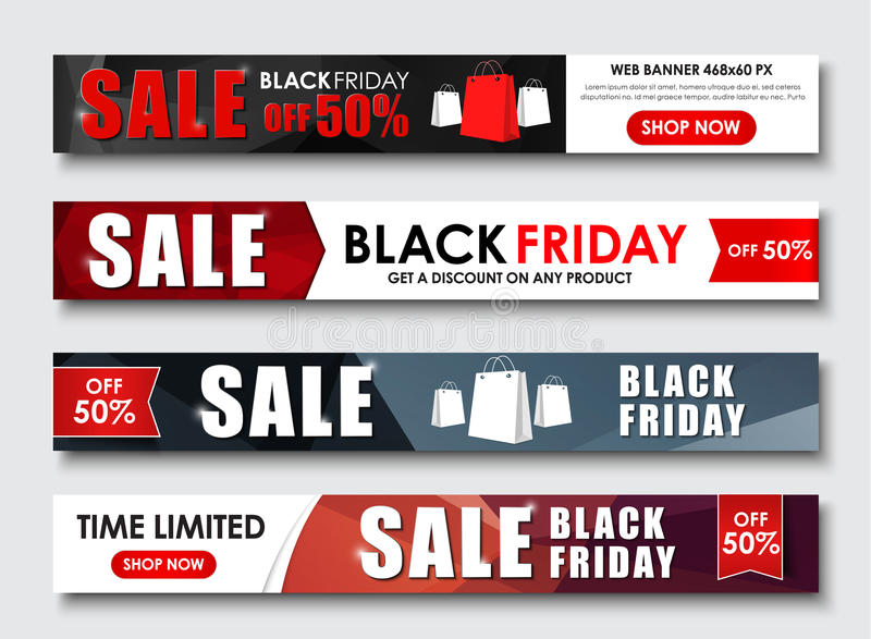 Σύνολο εμβλήματος Ιστού για τις πωλήσεις τη μαύρη Παρασκευή ελεύθερη απεικόνιση δικαιώματος