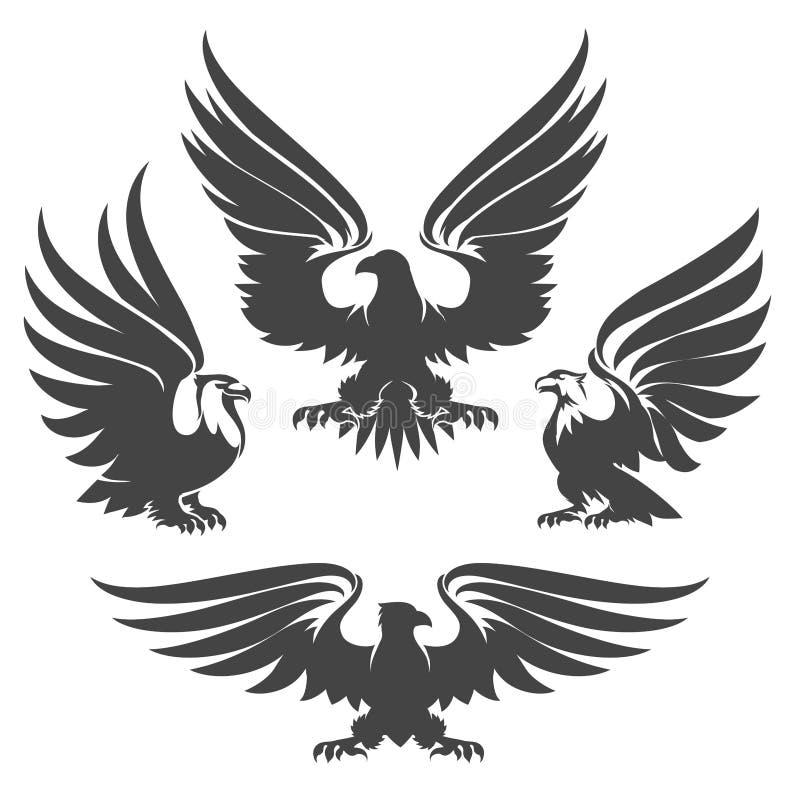 Σύνολο εμβλημάτων αετών ελεύθερη απεικόνιση δικαιώματος
