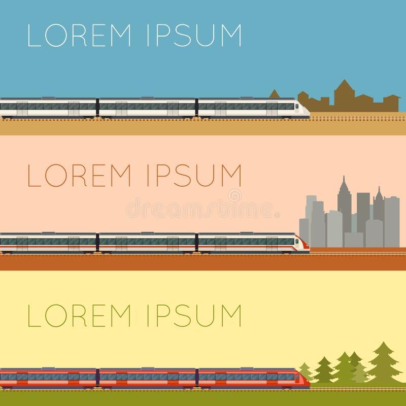 Σύνολο εμβλημάτων αμαξοστοιχιών περιφερειακού σιδηροδρόμου ελεύθερη απεικόνιση δικαιώματος