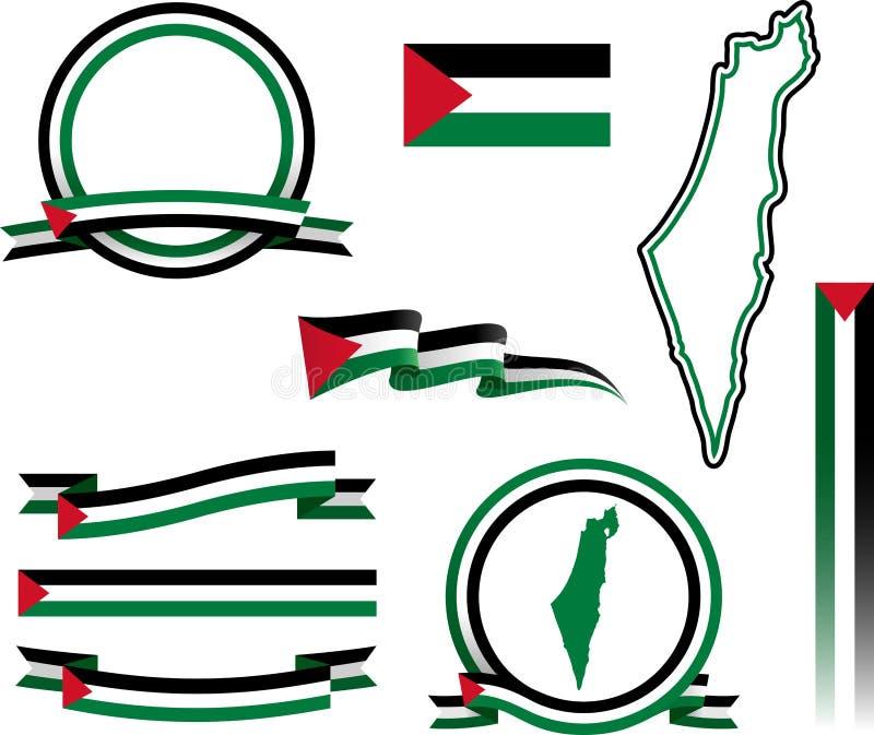 Σύνολο εμβλημάτων της Παλαιστίνης διανυσματική απεικόνιση