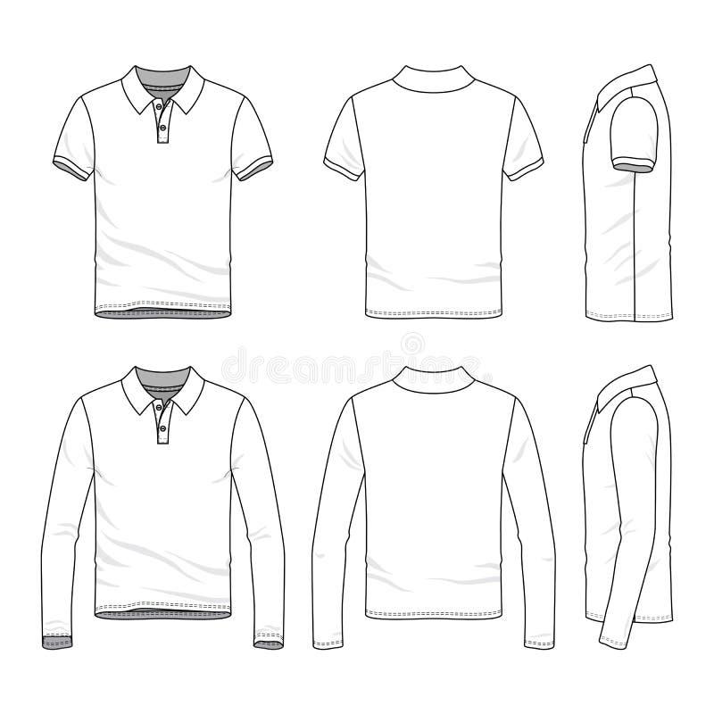 Σύνολο ενδυμασίας αρσενικού πουκάμισου πόλο γκολφ διανυσματική απεικόνιση