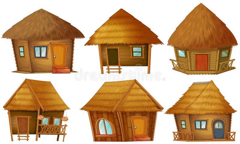 Σύνολο εξοχικών σπιτιών διανυσματική απεικόνιση