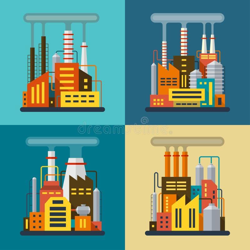 Σύνολο επίπεδων βιομηχανικών απεικονίσεων ελεύθερη απεικόνιση δικαιώματος
