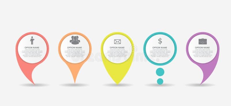 Σύνολο επιχειρησιακού στοιχείου Infographic δεικτών κύκλων επίσης corel σύρετε το διάνυσμα απεικόνισης ελεύθερη απεικόνιση δικαιώματος