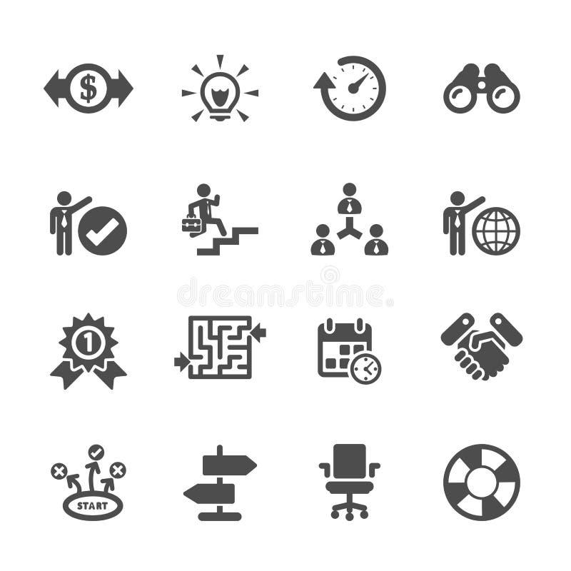 Σύνολο επιχειρησιακών εικονιδίων, διανυσματικό eps10 διανυσματική απεικόνιση