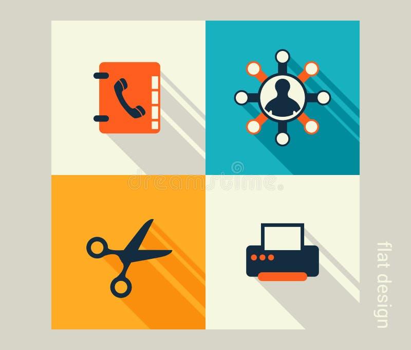 Σύνολο επιχειρησιακών εικονιδίων Λογισμικό και ανάπτυξη Ιστού, μάρκετινγκ διανυσματική απεικόνιση