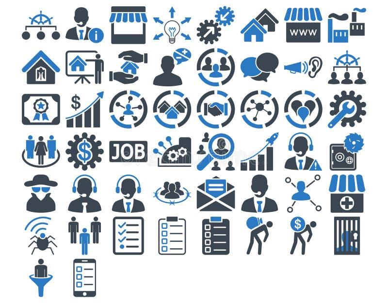 Σύνολο επιχειρησιακών εικονιδίων διανυσματική απεικόνιση