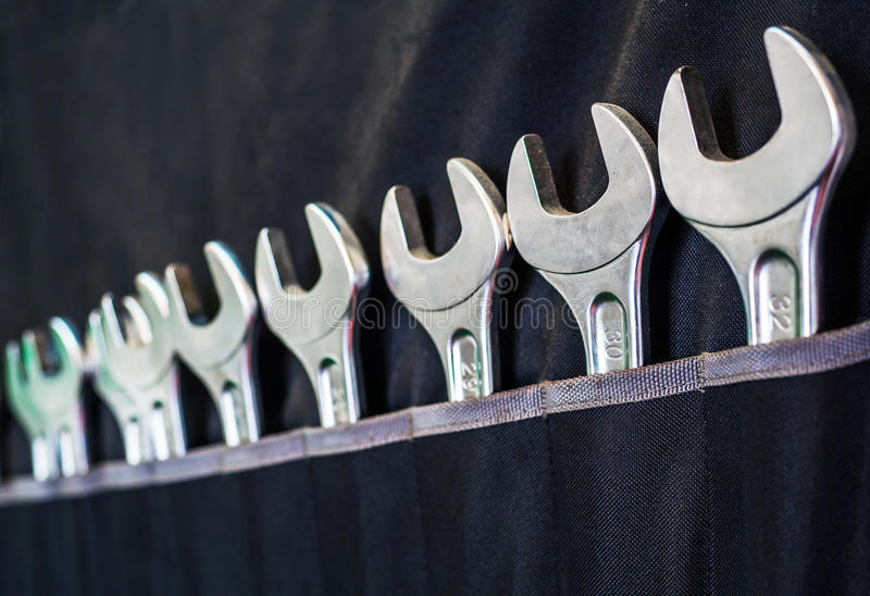 Σύνολο εργαλείου γαλλικών κλειδιών στοκ εικόνα με δικαίωμα ελεύθερης χρήσης