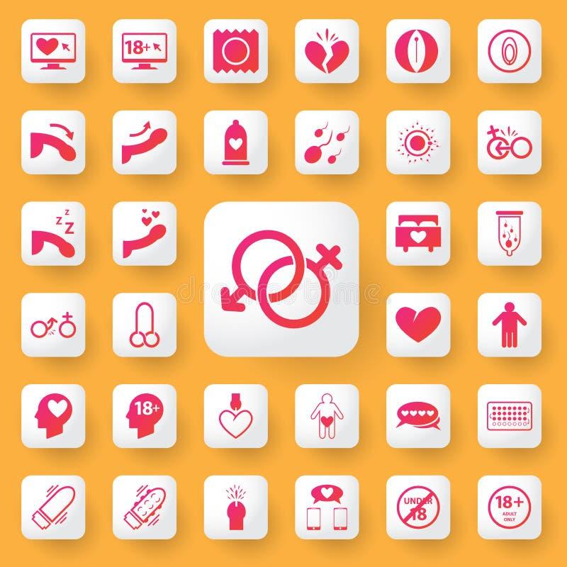 Σύνολο εφαρμογής συμβόλων και εικονιδίων φύλων επίσης corel σύρετε το διάνυσμα απεικόνισης ελεύθερη απεικόνιση δικαιώματος