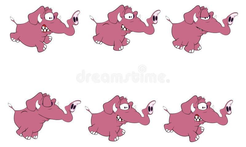 Σύνολο ελεφάντων storyboard ελεύθερη απεικόνιση δικαιώματος