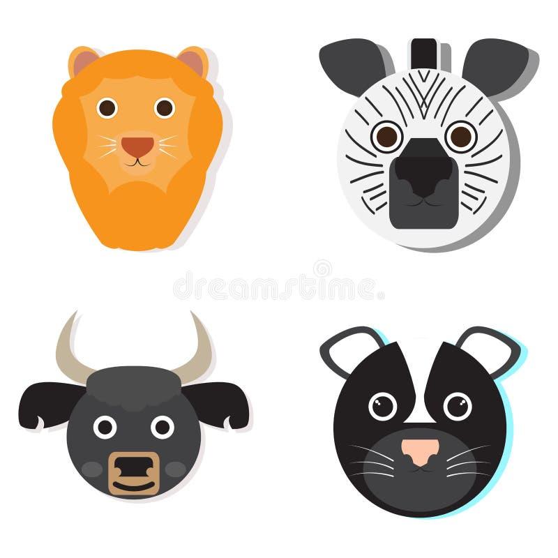 Σύνολο ζωικών προσώπων απεικόνιση αποθεμάτων