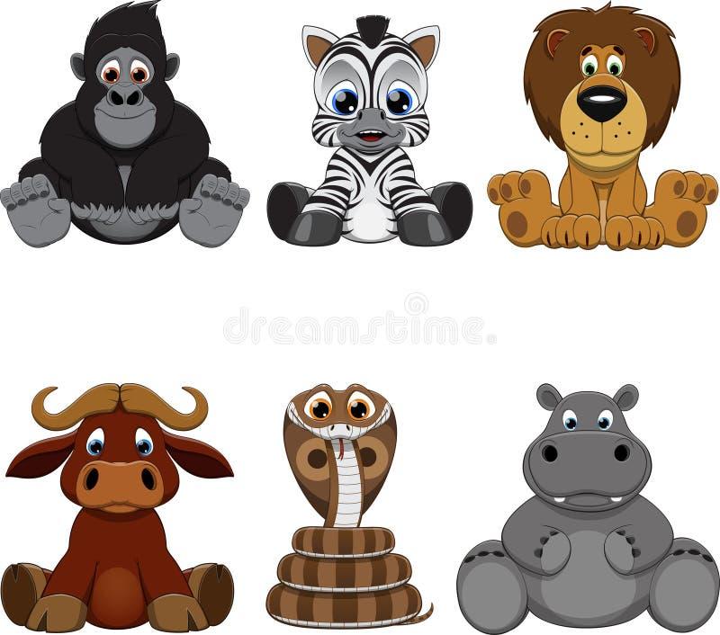 Σύνολο ζώων διανυσματική απεικόνιση