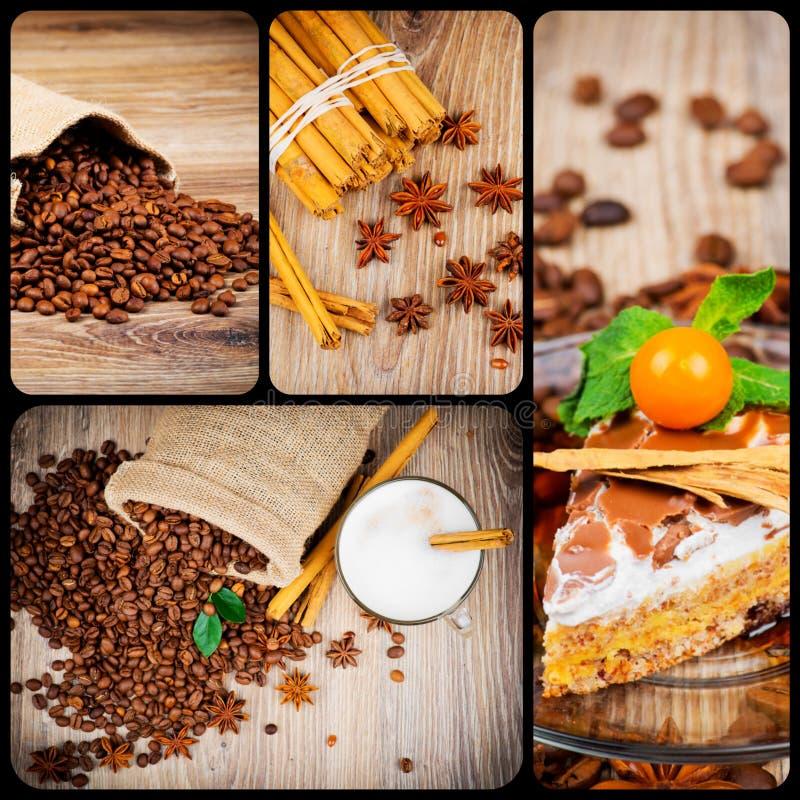 Σύνολο θέματος καφέ στοκ φωτογραφία με δικαίωμα ελεύθερης χρήσης