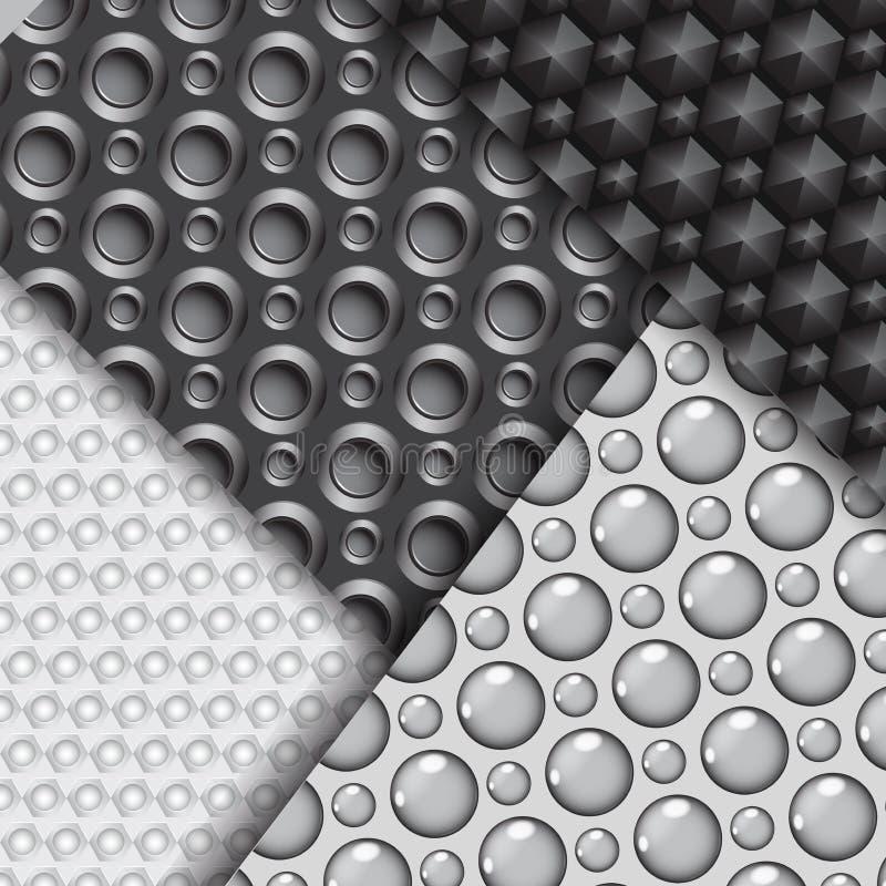 Σύνολο διάφορων άνευ ραφής σχεδίων ινών άνθρακα απεικόνιση αποθεμάτων