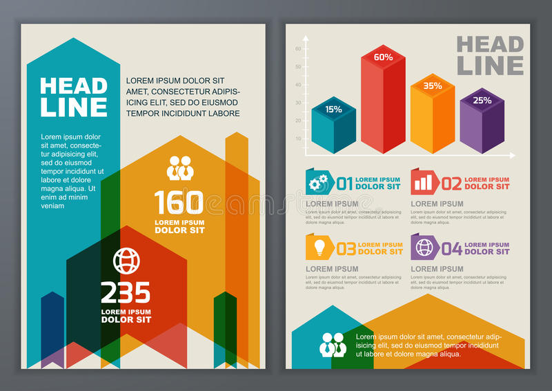 Σύνολο διανυσματικού γεωμετρικού προτύπου για το φυλλάδιο, ιπτάμενο, αφίσα, AP διανυσματική απεικόνιση