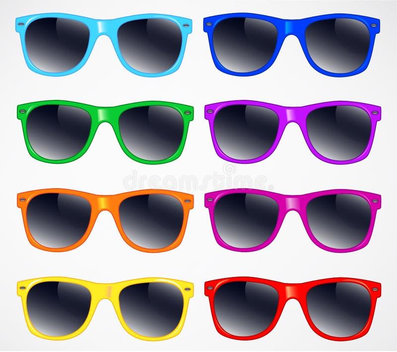 Σύνολο διανυσματικού υποβάθρου απεικόνισης γυαλιών ηλίου ελεύθερη απεικόνιση δικαιώματος