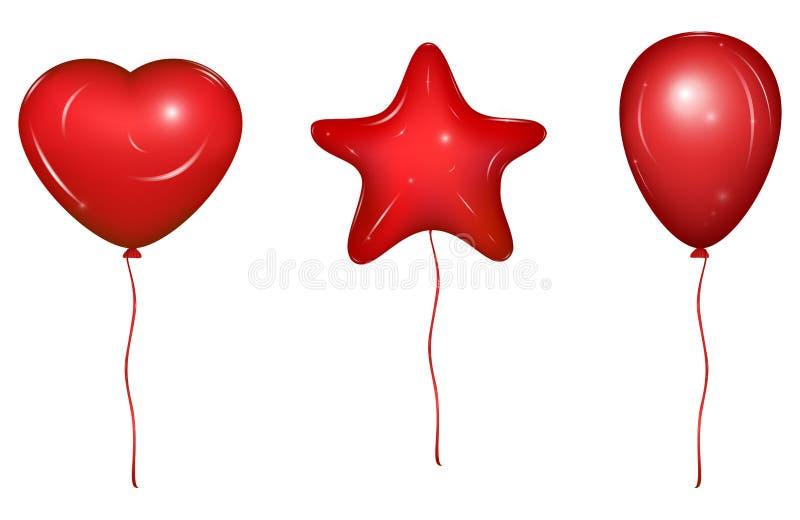Σύνολο διανυσματικού Baloons στοκ εικόνα με δικαίωμα ελεύθερης χρήσης