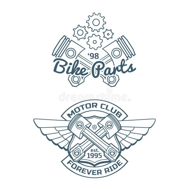 Σύνολο διανυσματικών διακριτικών ποδηλατών απεικόνιση αποθεμάτων