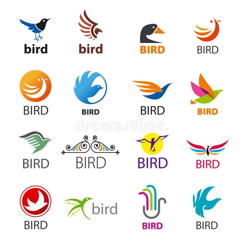 Σύνολο διανυσματικών πουλιών λογότυπων διανυσματική απεικόνιση