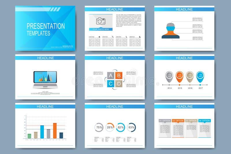 Σύνολο διανυσματικών προτύπων για τις για πολλές χρήσεις φωτογραφικές διαφάνειες παρουσίασης διανυσματική απεικόνιση