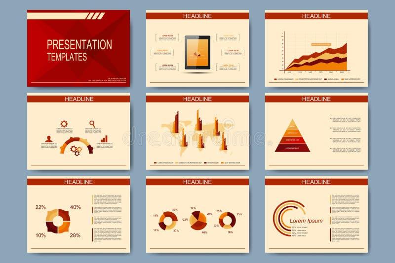 Σύνολο διανυσματικών προτύπων για τις φωτογραφικές διαφάνειες παρουσίασης Σύγχρονο επιχειρησιακό σχέδιο με τη γραφική παράσταση κ απεικόνιση αποθεμάτων