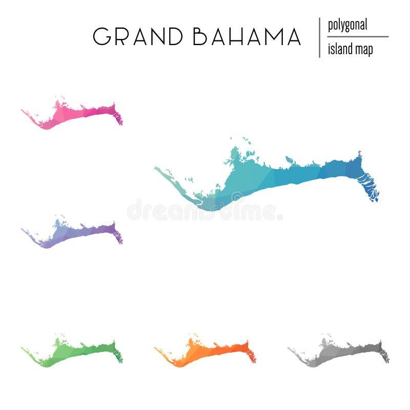 Σύνολο διανυσματικών polygonal μεγάλων χαρτών Bahama που γεμίζουν διανυσματική απεικόνιση